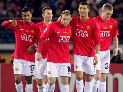 Wayne Rooney, Nani, Ryan Giggs, Cristiano Ronaldo, Darren Fletcher,